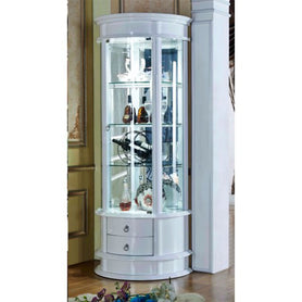 Arsen Corner Wine Display Cabinet - Domestico Furniture