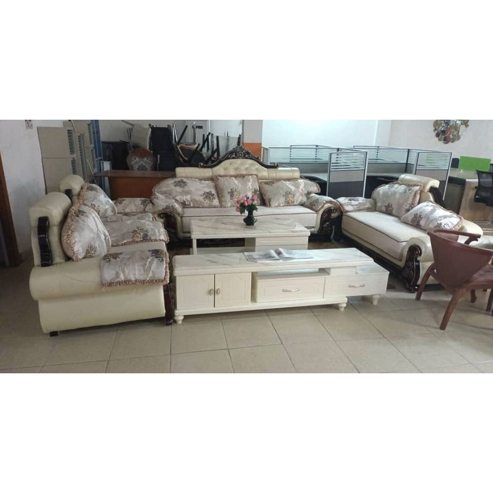 Lisa 7 Seater Royal Fabric leather Sofa Set - Domestico Furniture