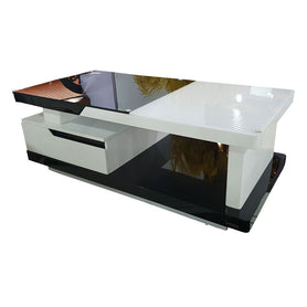 Sebastin White Glass Center table - Domestico Furniture