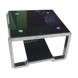 Jairo Black Glass Center table - Domestico Furniture