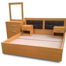 Quinn Brown Bed with Option of Bedsides - Domestico Furniture