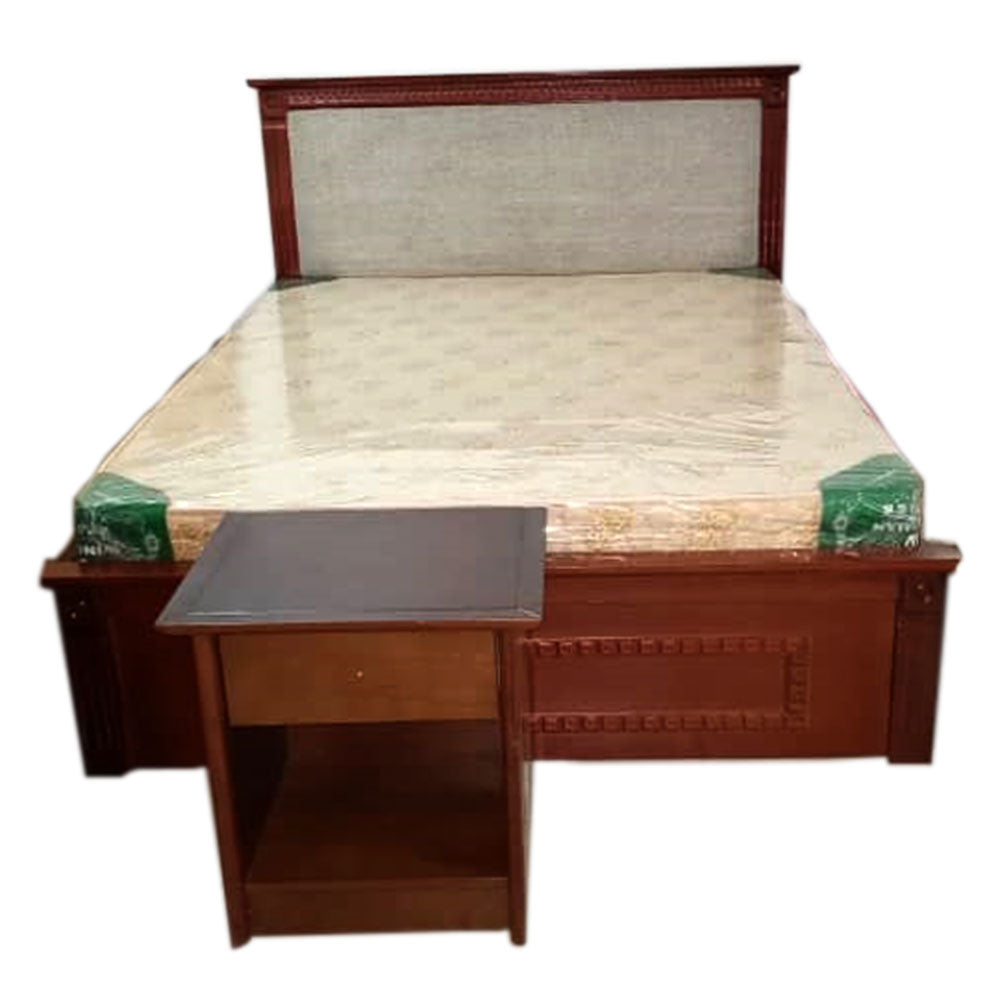 Savanna 6 by 5 Brown Bed + 1 Bedside