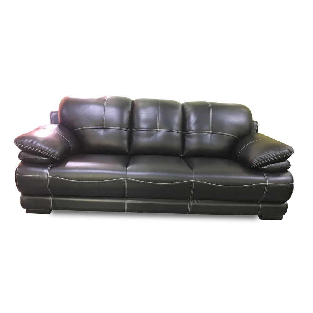 Nina 7 seater Grey Italian leather Sofa Set