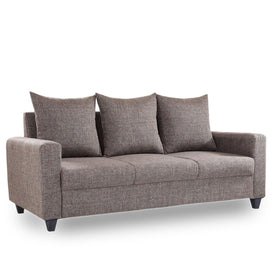 Yola 7 Seater Brown Fabric Sofa Set - Domestico Furniture