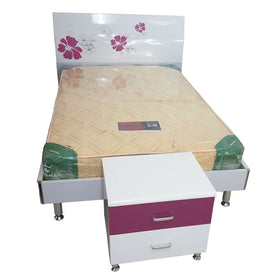 Reina 6 by 4 White Bed + 1 Bedside