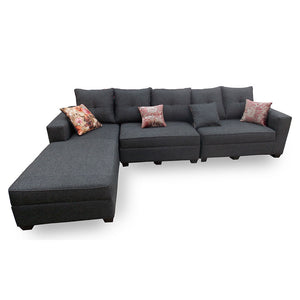 Maricela Grey Fabric Sectional Sofa Set | 10ft - Domestico Furniture