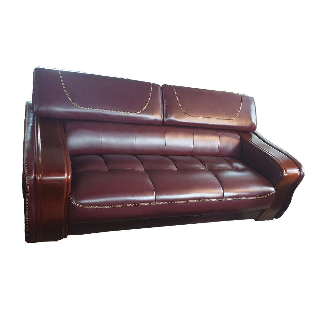 Lola 7 seater Wine Italian leather Sofa Set