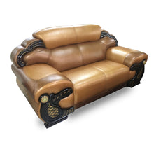 Load image into Gallery viewer, Mila 7 seater Brown Italian leather Sofa Set - Domestico Furniture