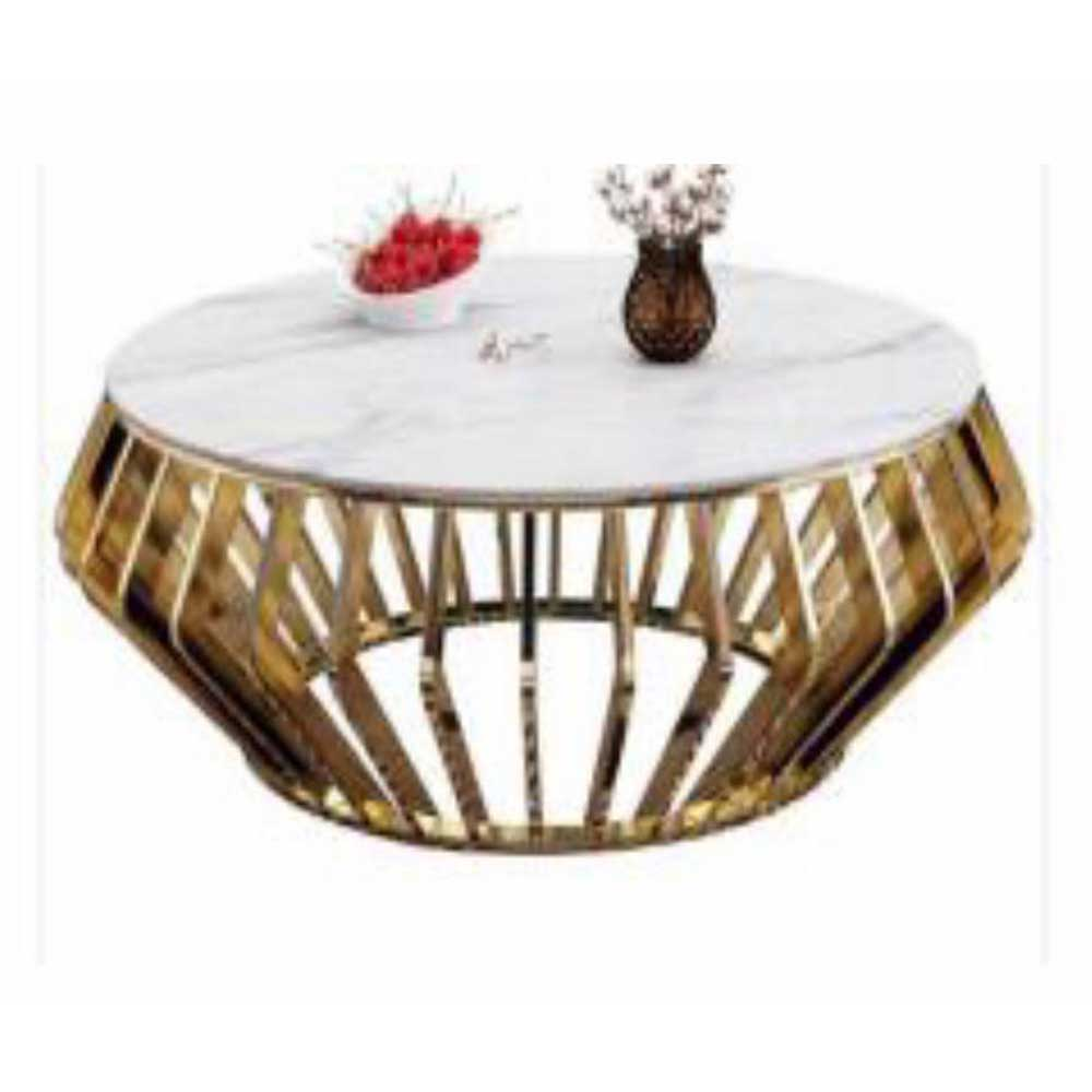Nina White Marble Center table - Domestico Furniture