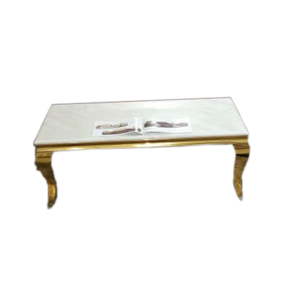 Ciara White Marble Center table - Domestico Furniture
