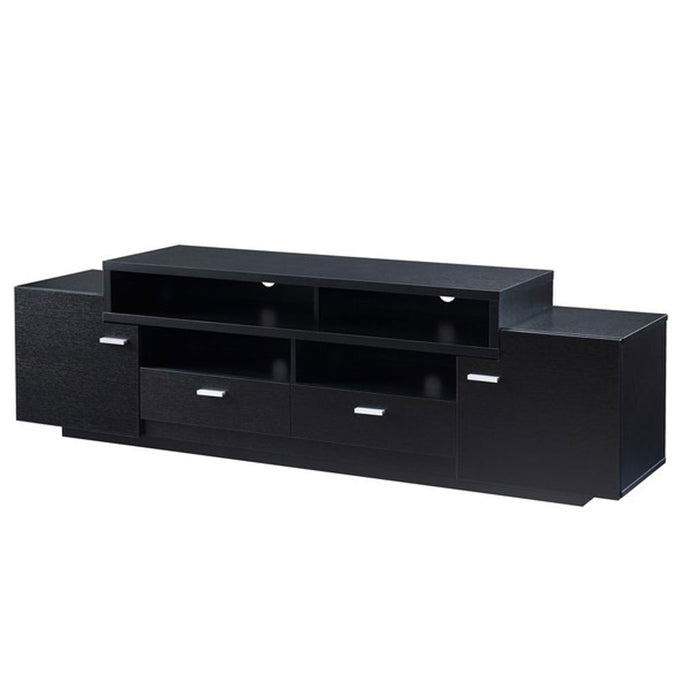 Lorentz Black Wooden TV Stand | 5ft - Domestico Furniture