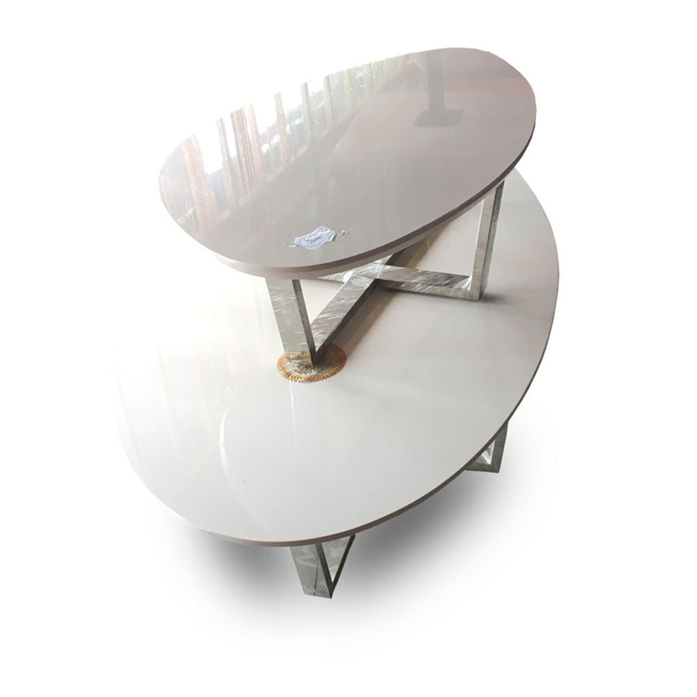 Dita Oval Center table + 2 Side Stools