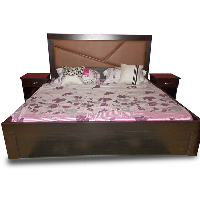 Fermin Brown Bed with Option of Bedsides - Domestico Furniture