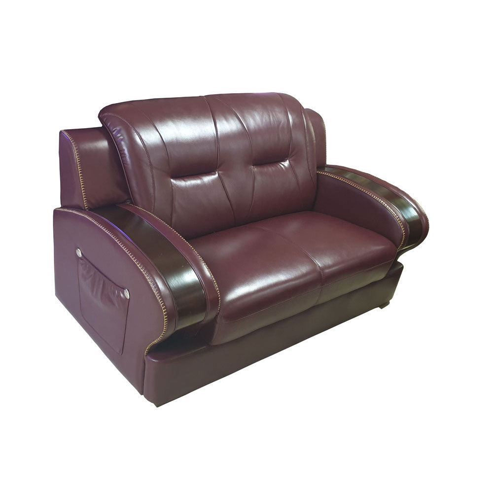 Dante 7 seater Wine Italian leather Sofa Set