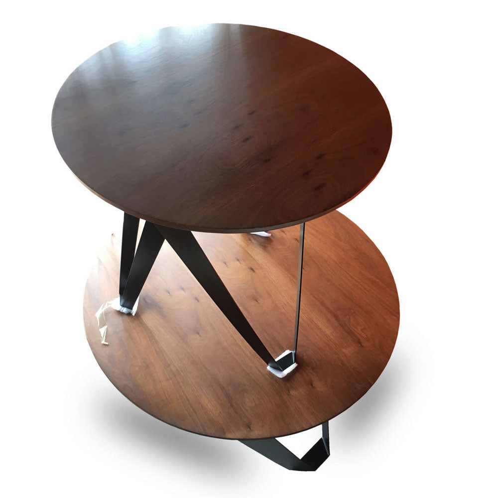 Syria round Center table + 2 Side Stools - Domestico Furniture