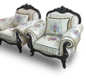 Jose 7 Seater Royal Fabric Sofa Set - Domestico Furniture