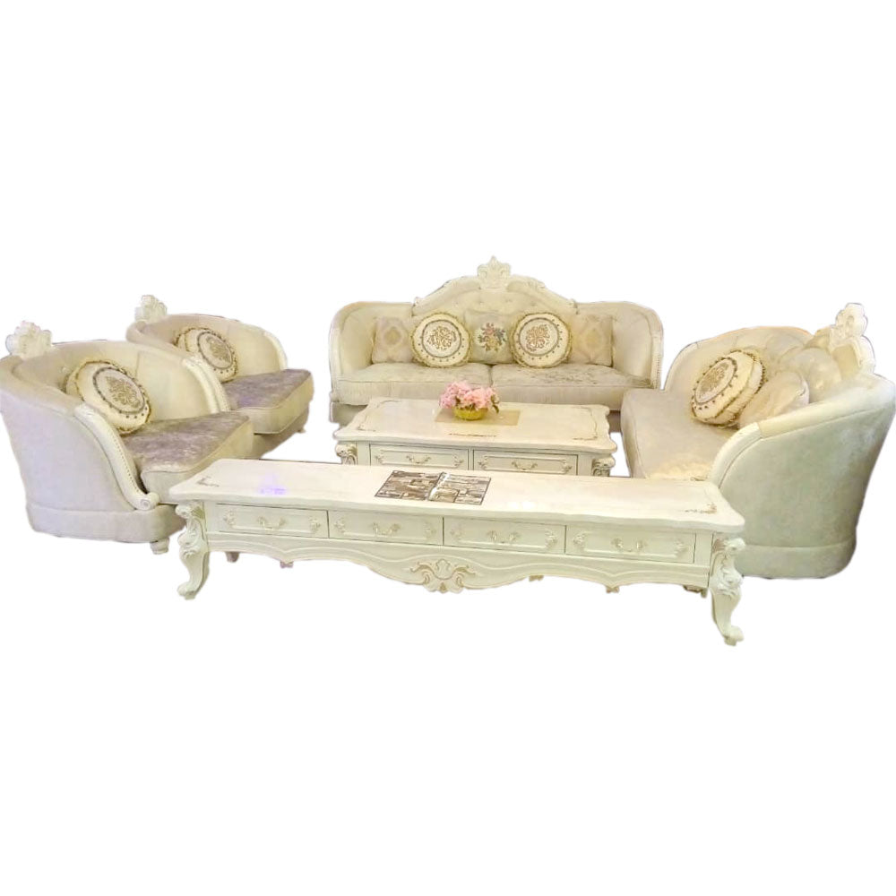 Hernan 7 Seater Royal Fabric Sofa Set - Domestico Furniture