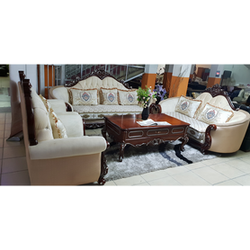 Luis 7 Seater Fabric Royal Sofa Set - Domestico Furniture