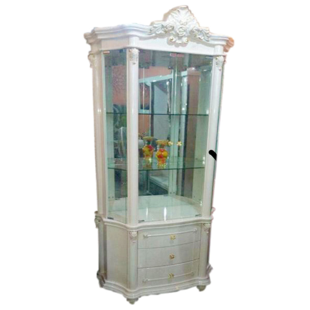 Dreena Corner Wine Display Cabinet