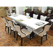 Load image into Gallery viewer, Azure 6 Seaters White Marble Dining Set - Domestico Furniture