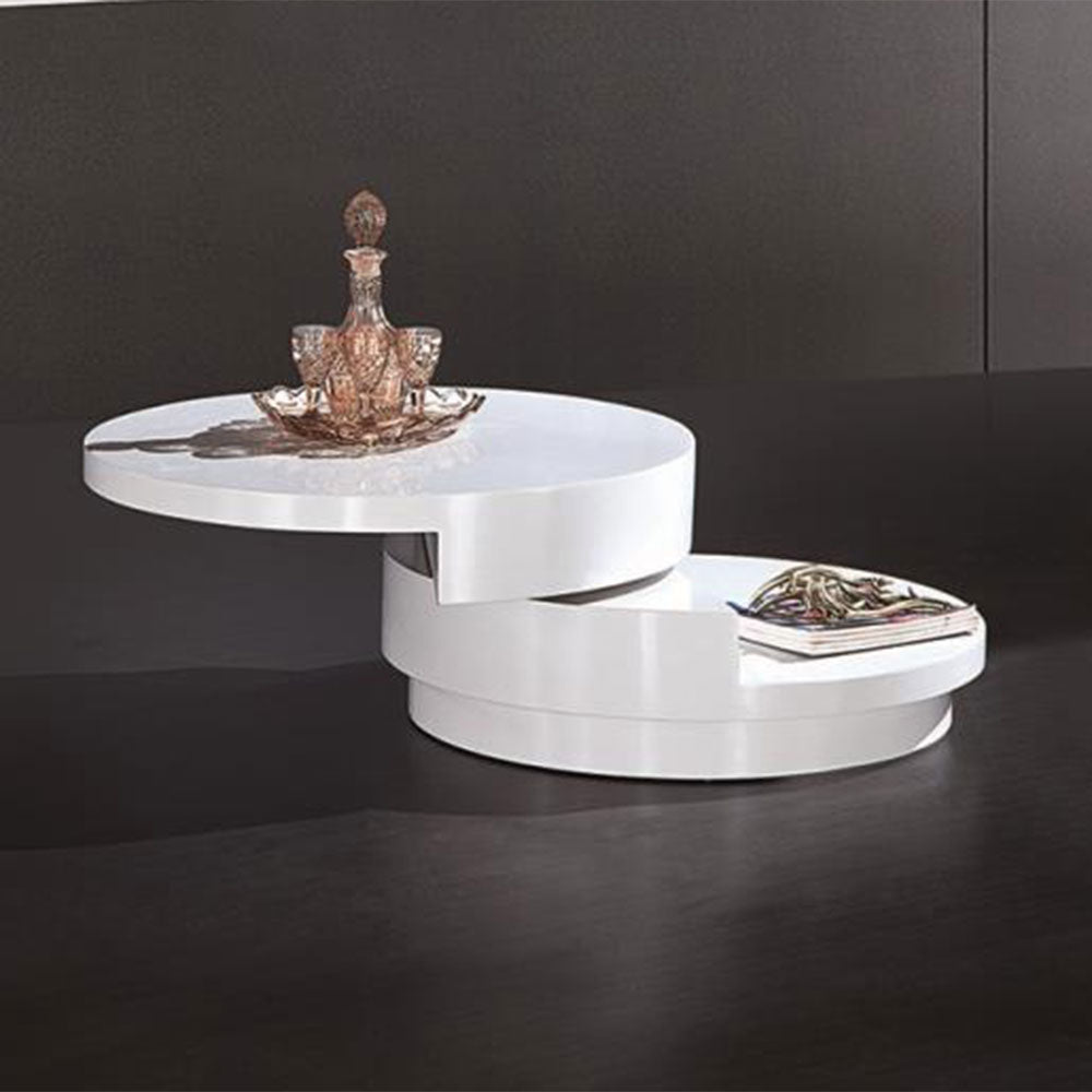 Elian White Center table - Domestico Furniture