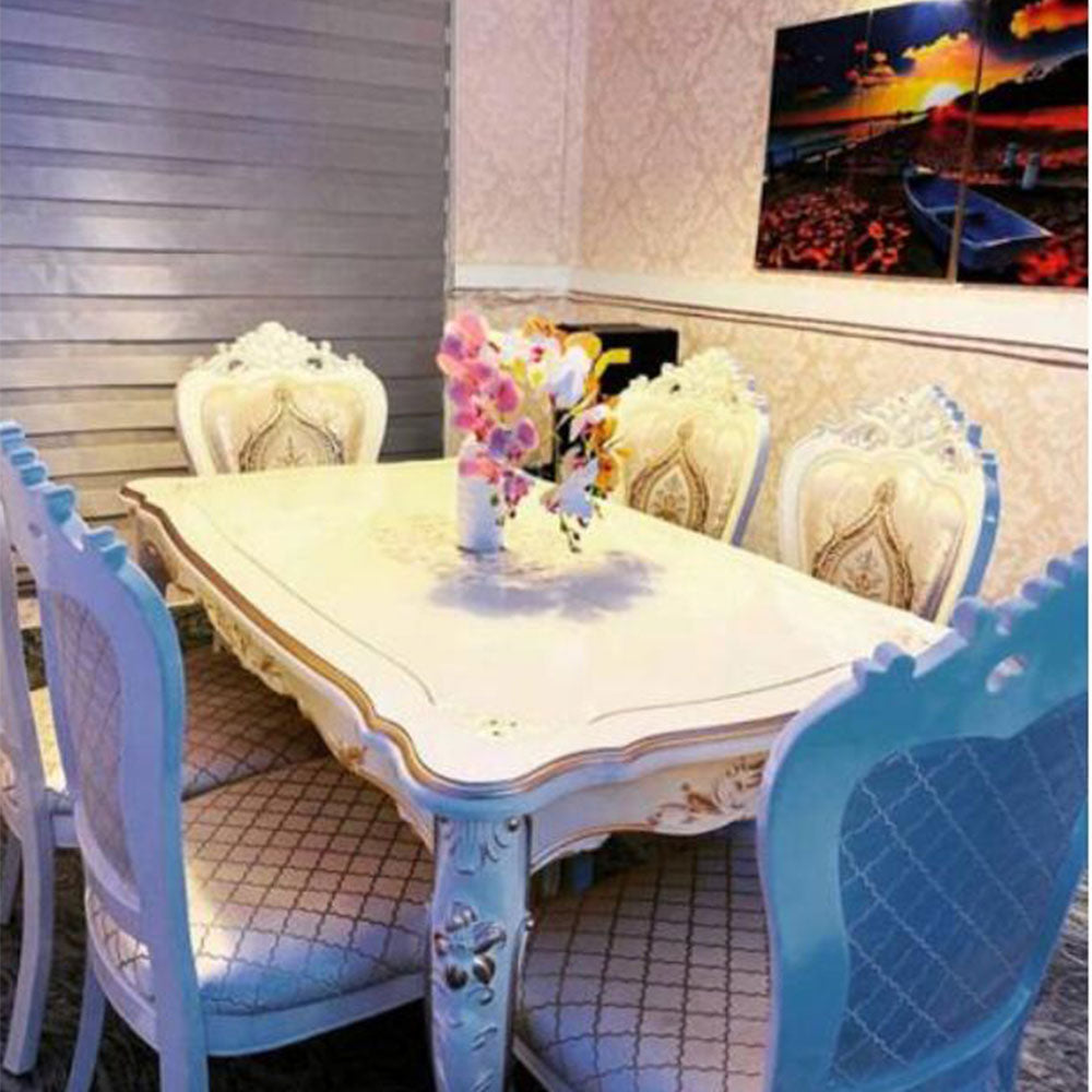 Bonita 6 Seaters Royal White Dining Set - Domestico Furniture