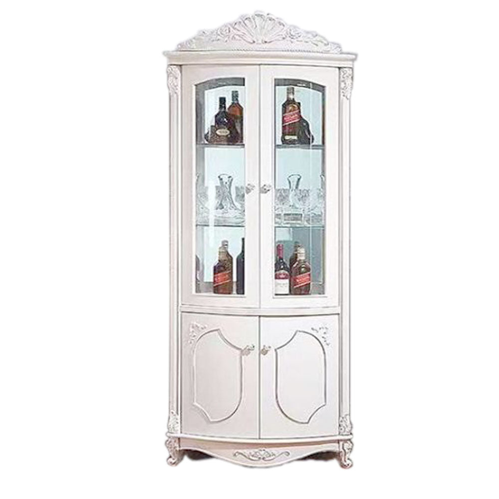 Zaneta Corner Wine Display Cabinet