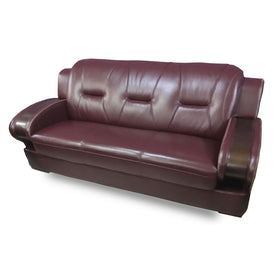 Dante 7 seater Wine Italian leather Sofa Set - Domestico Furniture