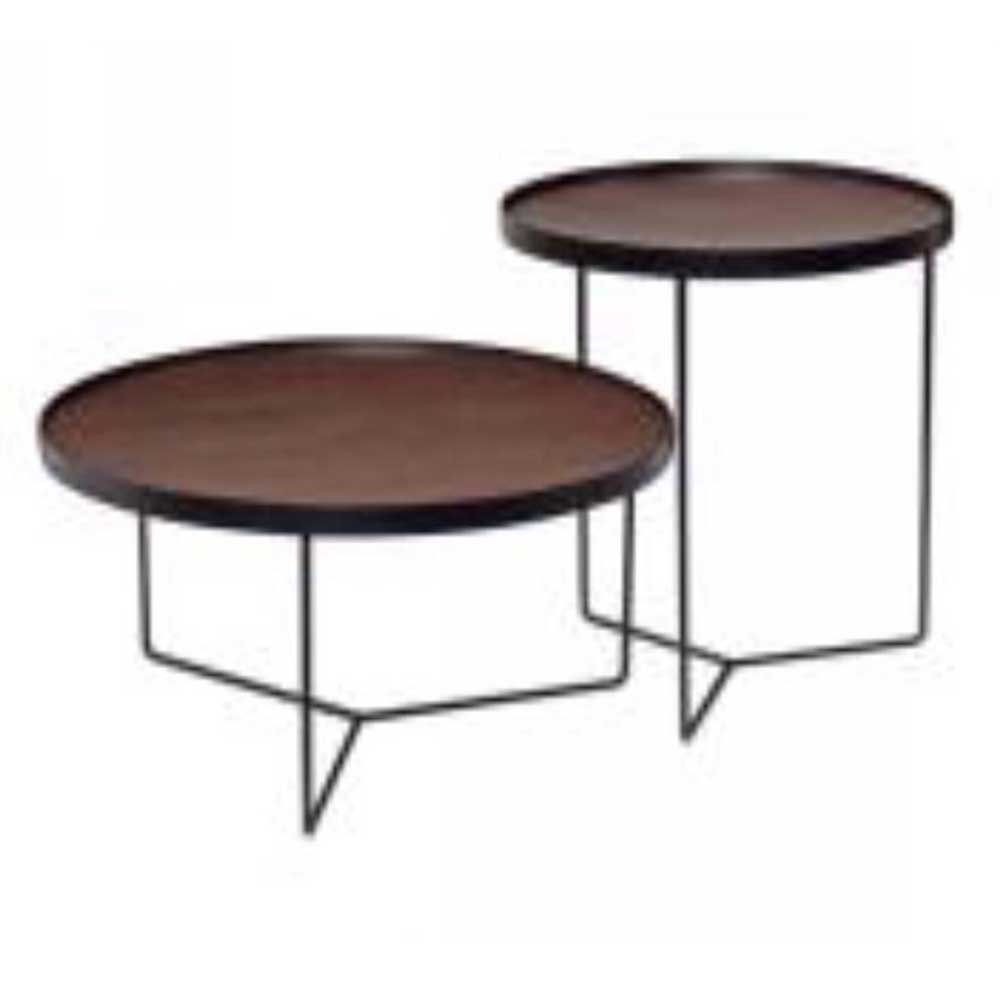Tula 2 in 1 Nested Brown Stool - Domestico Furniture