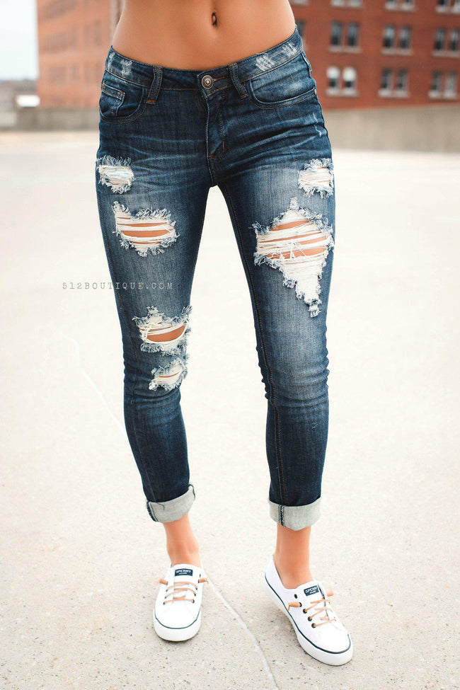 Sophie Distressed Jeans - 512 Boutique