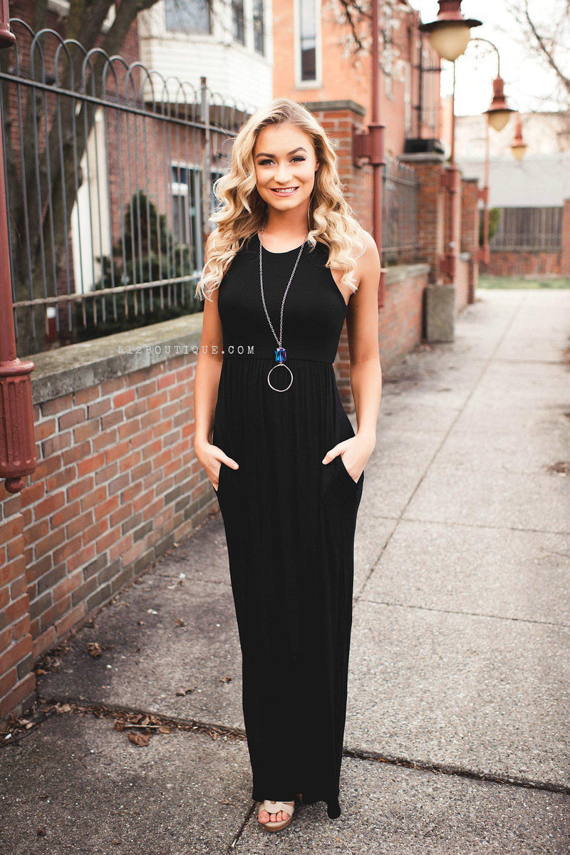 Long Island Maxi- Black - 512 Boutique