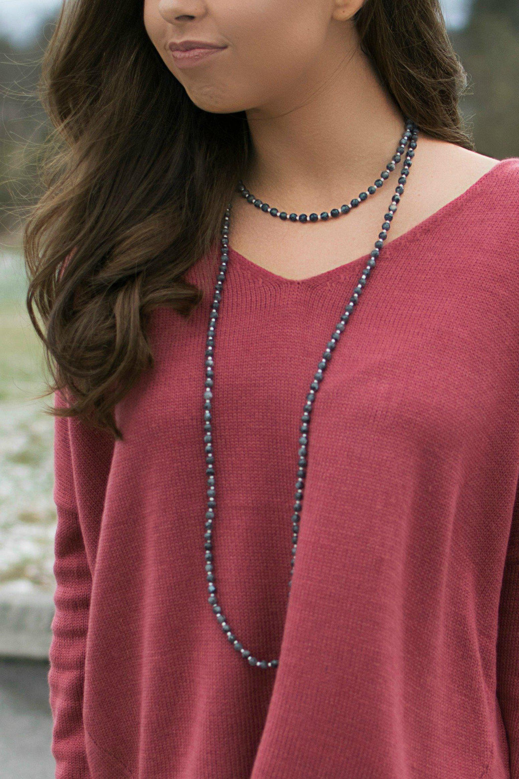 Get Charmed Double Stone Necklace - 512 Boutique