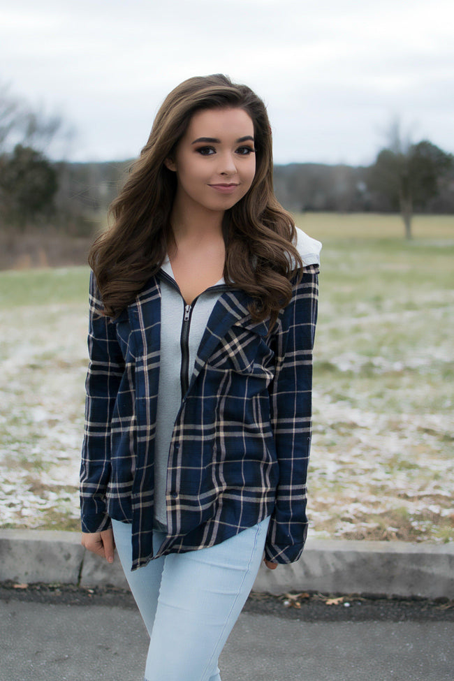 Blue Plaid Jacket