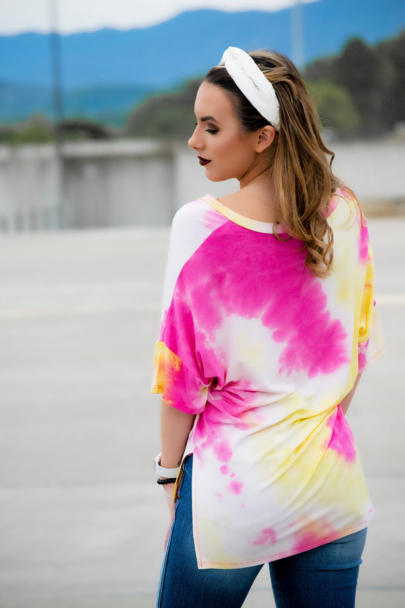 Pink Lemonade Tie Dye Top - 512 Boutique