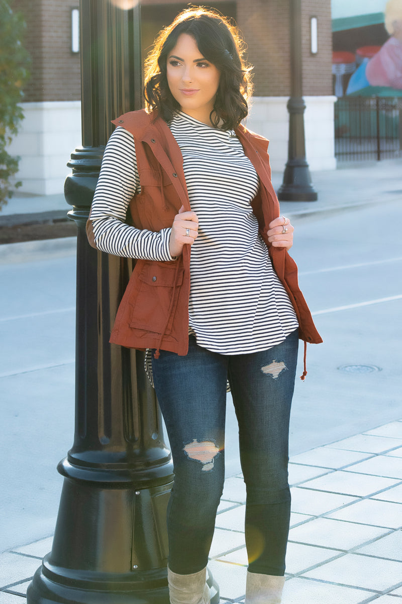 Soft Plaid Vest- Red