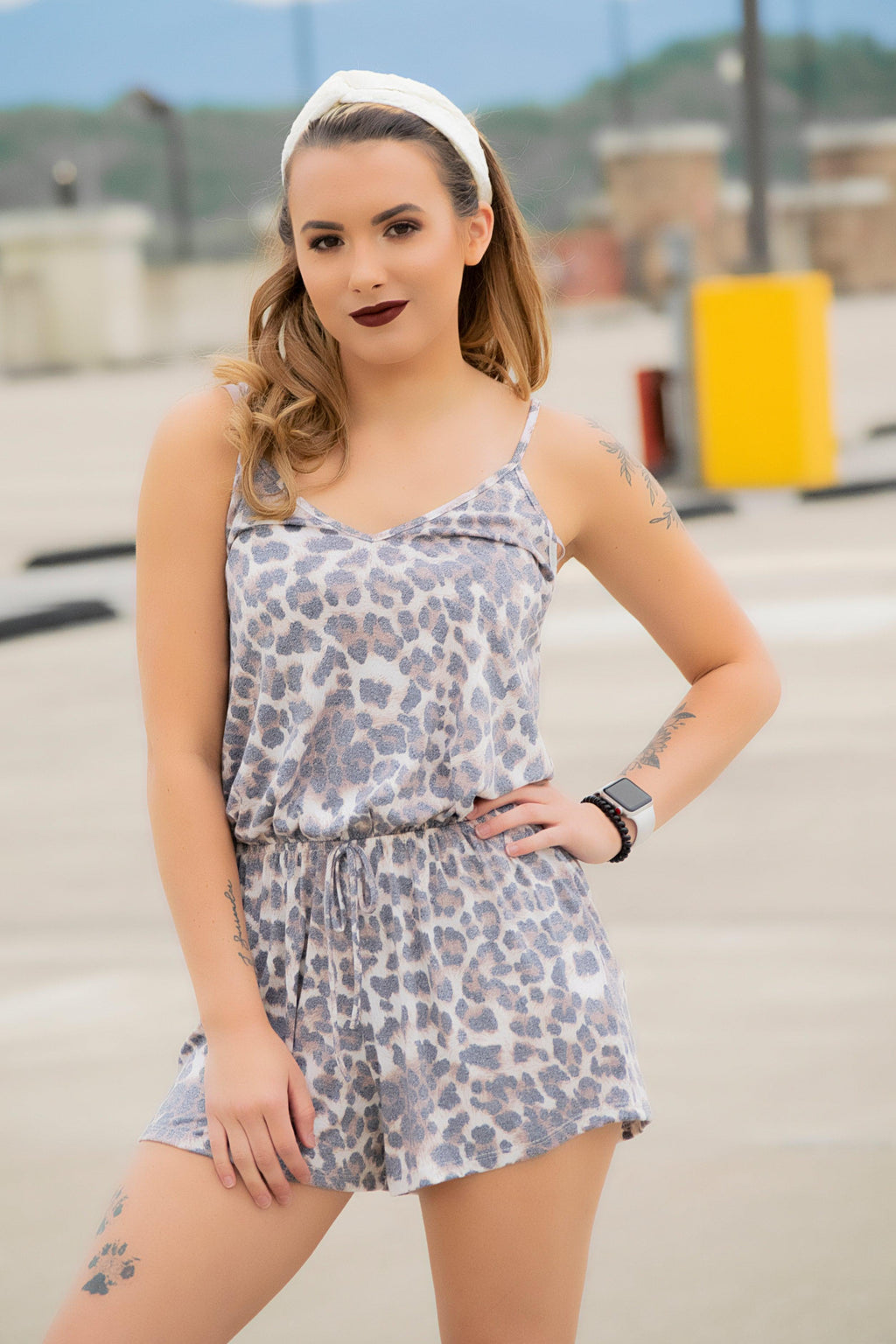 Animal Print Romper - 512 Boutique