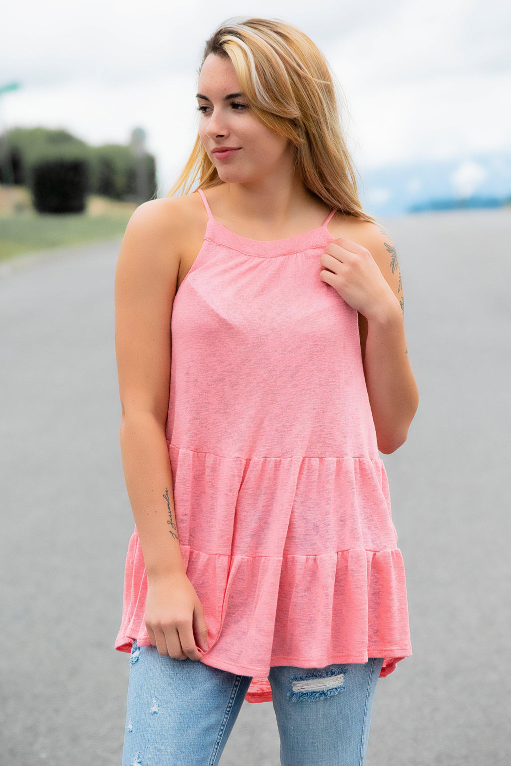 All my Love Tank-Coral - 512 Boutique