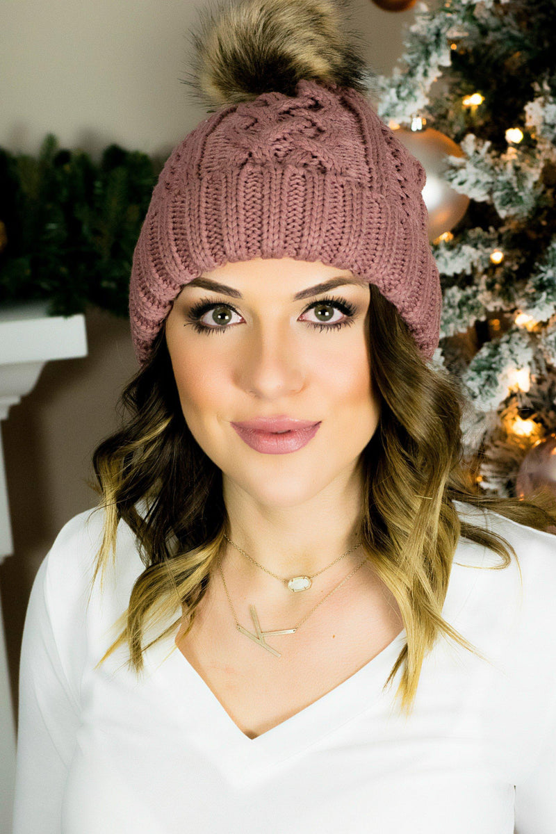 Sweater Weather Beanie-Mauve - 512 Boutique