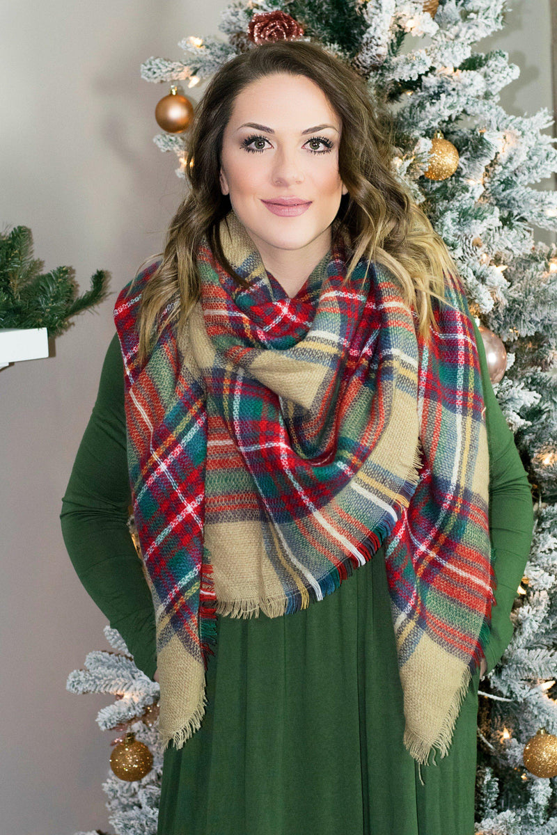 The Perfect Blanket Scarf- Beige - 512 Boutique