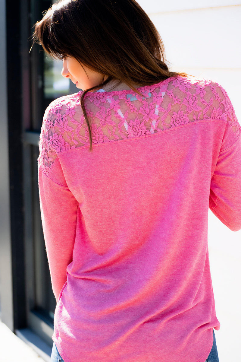 Pink with Lace Top - 512 Boutique