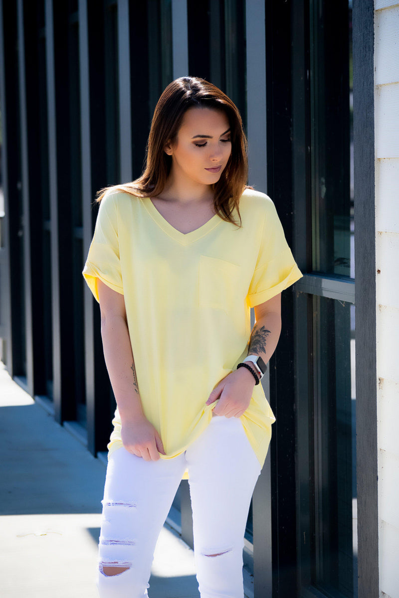Pocket Tee- Sunray - 512 Boutique