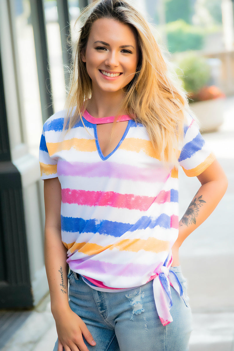 Free To Be Me Striped Top - 512 Boutique