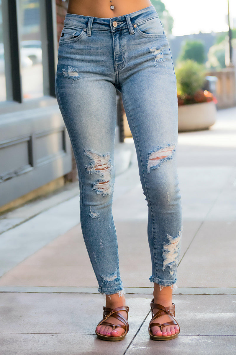 Lexi Distressed KanCan Jeans - 512 Boutique