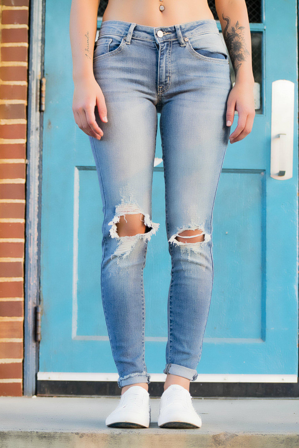 Miley Distressed KanCan Jeans - 512 Boutique