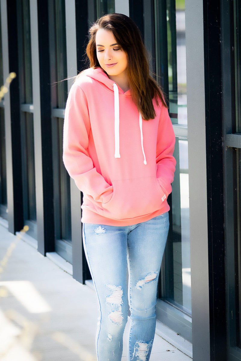 The Kate Pull over- Coral - 512 Boutique