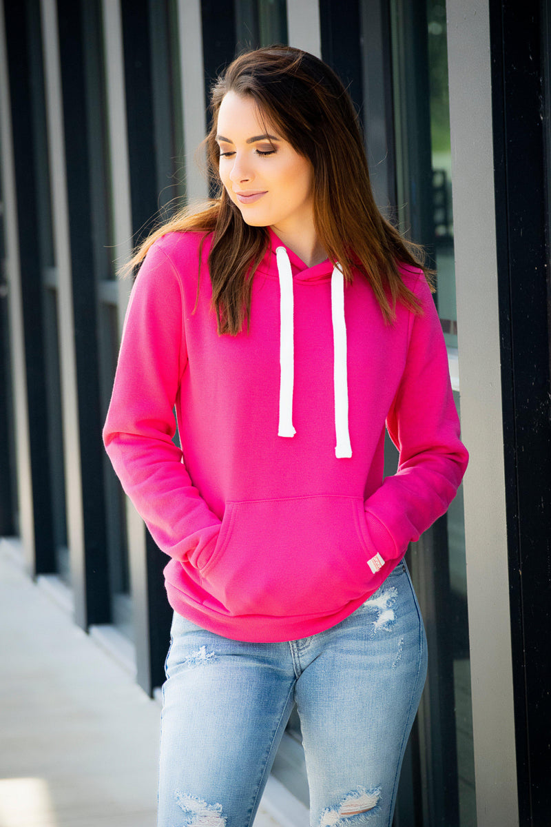 The Kate Pull over- Fuchsia - 512 Boutique