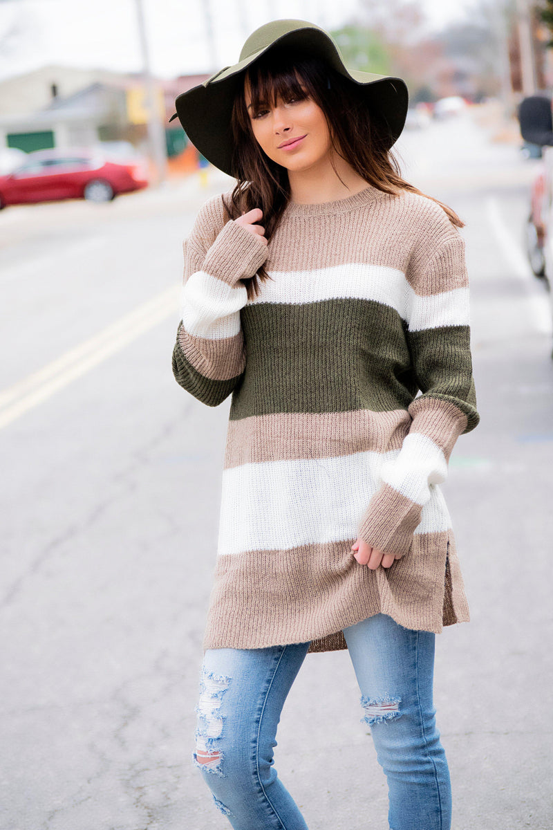 This is Everything Sweater- Taupe - 512 Boutique