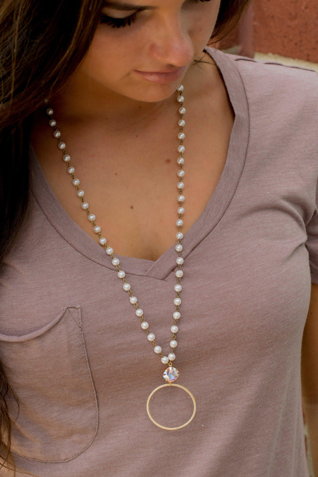 Get Charmed Pearl Necklace - 512 Boutique