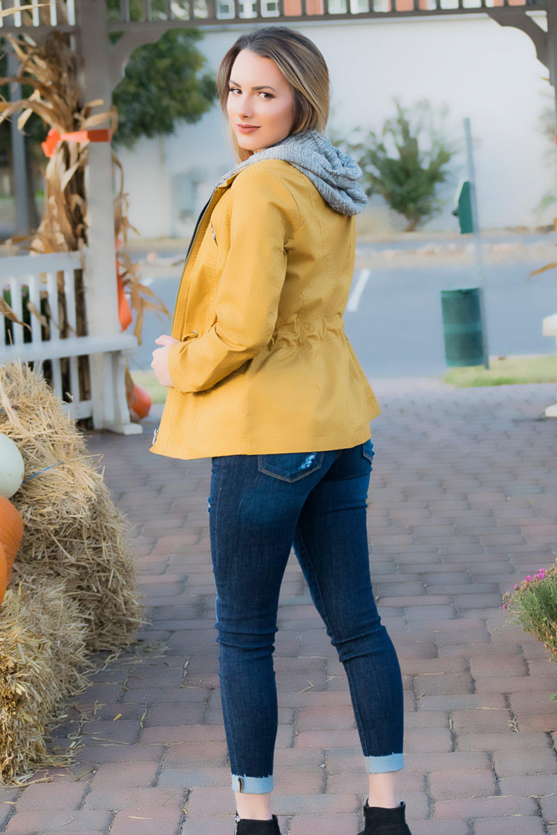Easy To Love Jacket- Mustard - 512 Boutique