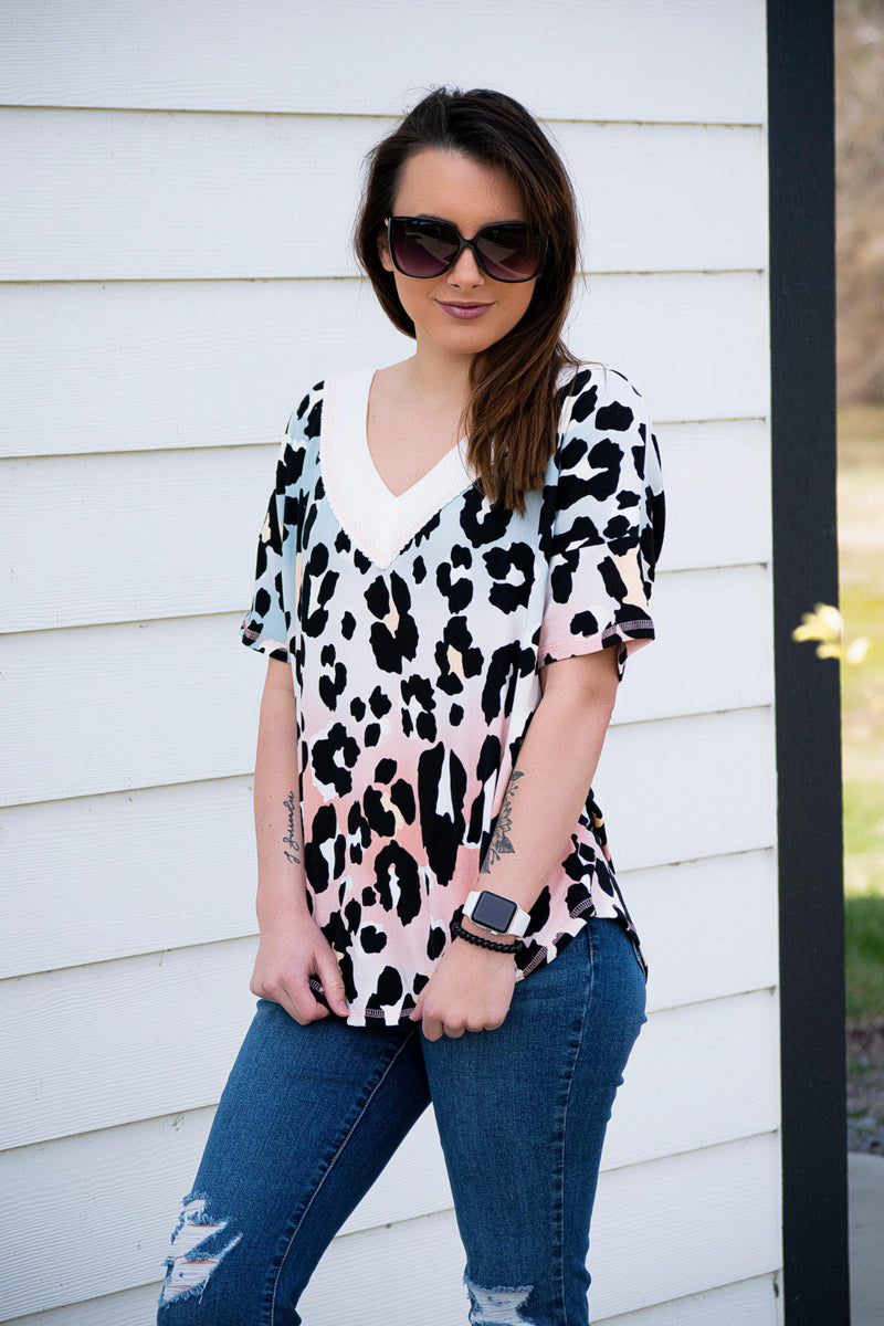 Lisa Animal Print Top - 512 Boutique